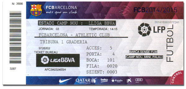 billet match barcelone