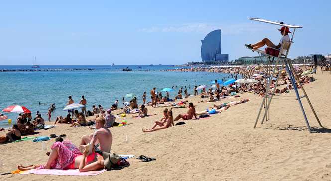 plage barcelone