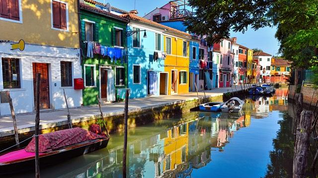 quartier de Burano Venise