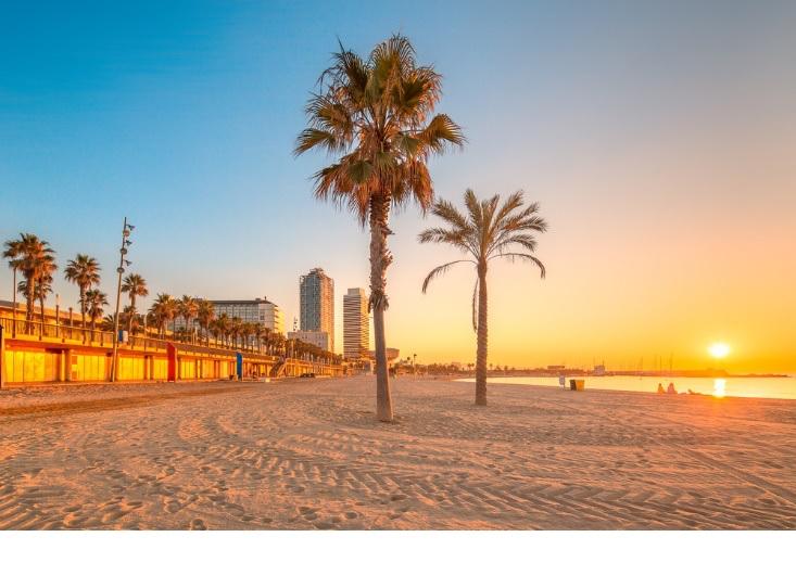 l'une des plus belles plages de barcelone : la mar bela