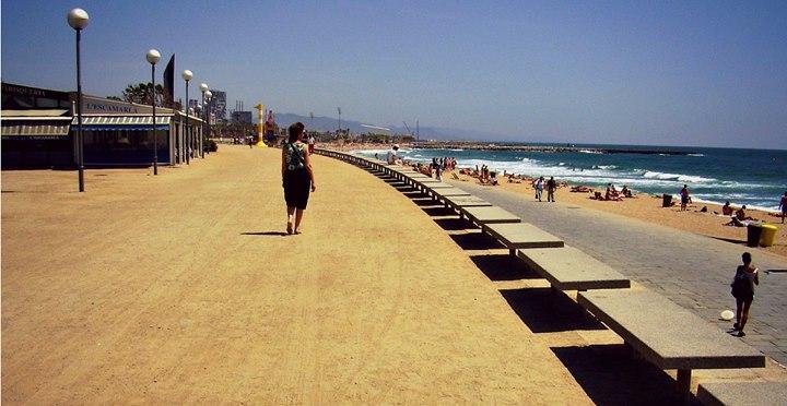 plage bogatell à Barcelone