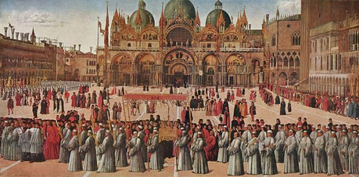 Prcession sur la Place Saint Marc, Gentile Bellini, 1496