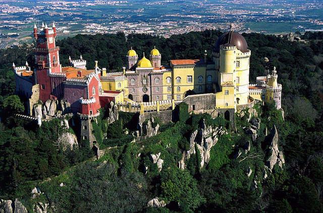 Vue de Sintra à Lisbonne, Palais Pena