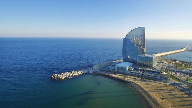 hôtel de luxe : le W Barcelona