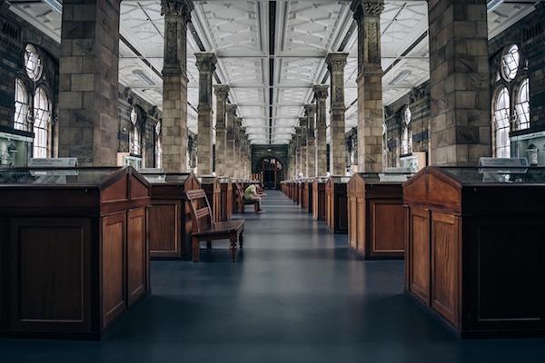 Musée de Londres : bibliothèque.