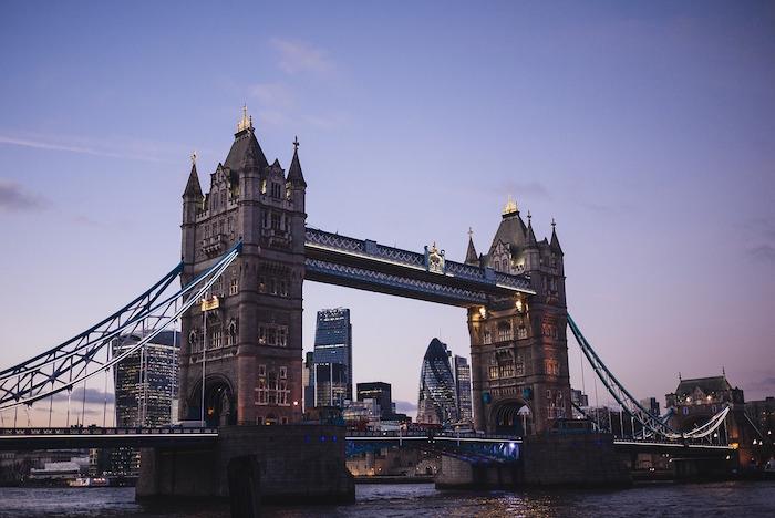 Les ponts et monuments de Londres.